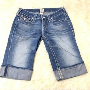 TRUE RELIGION Size 28 Disco Sophie Big T Cuffed